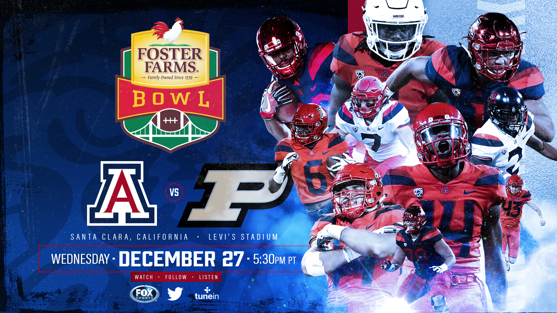 Arizona Football to Meet Purdue in Foster Farms Bowl