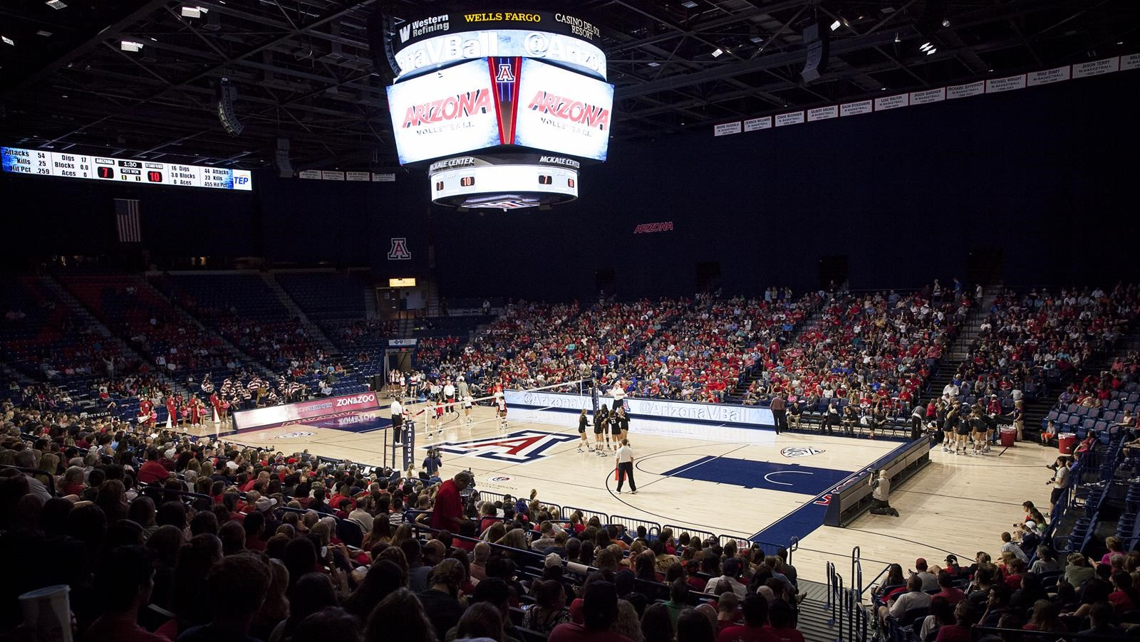 mckale memorial center (m/w basketball, volleyball and gymnastics