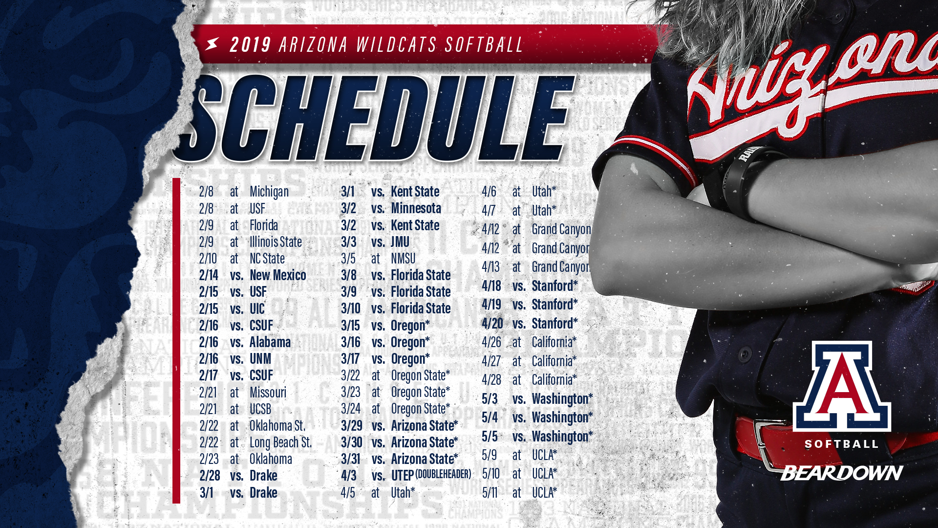 d958e1ecf82 Arizona Softball to Play 16 Televised Games in 2019 - University of ...