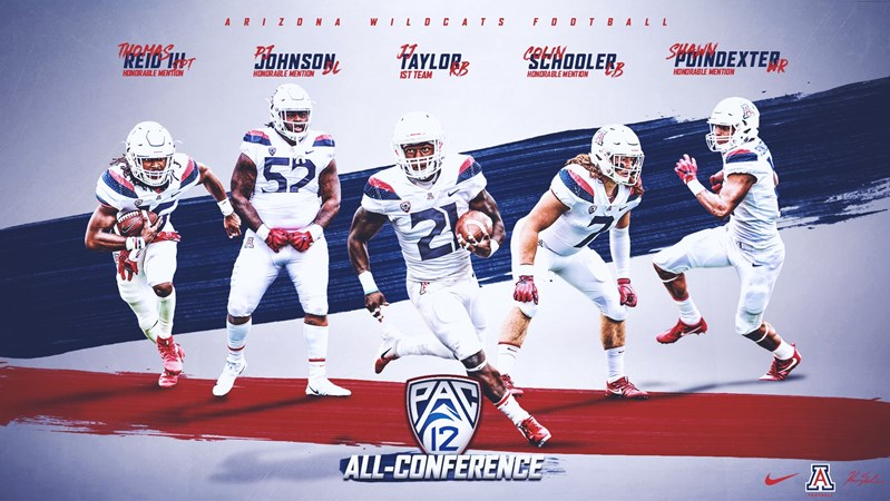the latest 44782 12fca Running Back Taylor Named First Team All-Pac-12 - University ...